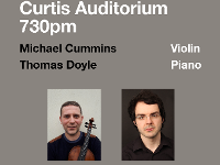 MA Recital series - Michael Cummins (Violin) & Thomas Doyle (Piano)