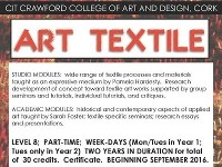 Art Textile 2016-18  // Level 8  Part-Time Course over 2 years