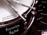 MASTER RECITAL SERIES CLARE O'KEEFFE PERCUSSION RECITAL