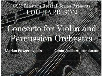 CSM MASTERS RECITAL - Concerto for Violin & Percussion