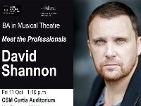 BA Musical Theatre - Meet the Professionals: David Shannon