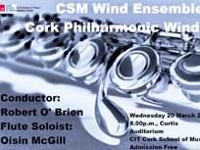 MASTERS RECITAL SERIES CSM WIND ENSEMBLE CORK PHILHARMONIC WINDS