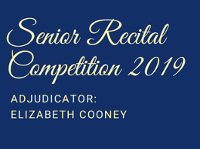 Senior Recital Competition 2019