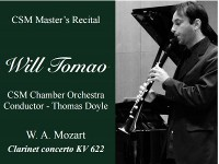 MASTERS RECITAL SERIES // Will Tomao Clarinet