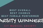 CIT Arts Office congratulates CIT Musical Society on their wins at the Musical Theatre Inter Varsities.
